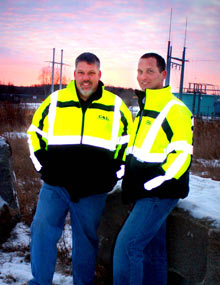Kevin Cox and Brent Lahr - owners of C&L Excavating